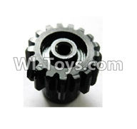 Wltoys A969 Parts-17 Upgrade motor Gear(1pcs)-0.7 Modulus-Black For Wltoys A969 desert rc trunk parts,rc car and rc racing car Parts