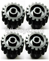Wltoys A969 Parts-19 Upgrade motor Gear(4pcs)-0.7 Modulus-Black For Wltoys A969 desert rc trunk parts,rc car and rc racing car Parts
