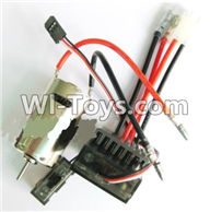 Wltoys A969 Parts-21 Upgrade 390 Brush motor & Upgrade Brush Motor ESC For Wltoys A969 desert rc trunk parts,rc car and rc racing car Parts
