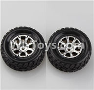 Wltoys A969 Parts-47 Official Left Wheel(2pcs) For Wltoys A969 desert rc trunk parts,rc car and rc racing car Parts
