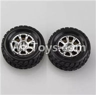 Wltoys A969 Parts-48 Official Right Wheel(2pcs) For Wltoys A969 desert rc trunk parts,rc car and rc racing car Parts