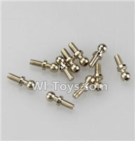 Wltoys A969 Parts-96 Ball-shape screws(10.8mmX4mm)-8pcs For Wltoys A969 desert rc trunk parts,rc car and rc racing car Parts