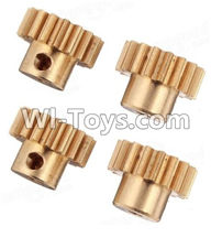 Wltoys A979 Parts-Copper motor Gear(4pcs)-0.7 Modulus,Wltoys A979 RC Truck Parts,rc car and rc racing car Spare Parts