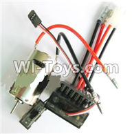 Wltoys A979 Parts-Upgrade 390 Brush motor & Upgrade Brush Motor ESC,Wltoys A979 RC Truck Parts,rc car and rc racing car Spare Parts