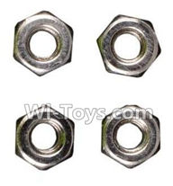 Wltoys A979 Parts-M3 Anti-loose Screw nut(4pcs),Wltoys A979 RC Truck Parts,rc car and rc racing car Spare Parts