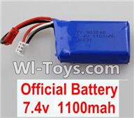 Wltoys K929 Parts-Battery Parts,7.4v 1100mah battery,Wltoys K929 desert RC Truck Parts,1:18 rc car and rc racing car Parts