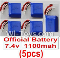Wltoys K929 Parts-RC Batteries,7.4v 1100mah battery(5pcs),Wltoys K929 desert RC Truck Parts,1:18 rc car and rc racing car Parts