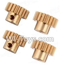 Wltoys K929 Parts-Copper motor Gear(4pcs)-0.7 Modulus,Wltoys K929 desert RC Truck Parts,1:18 rc car and rc racing car Parts