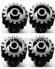 Wltoys K929 Parts-Upgrade motor Gear(4pcs)-0.7 Modulus-Black,Wltoys K929 desert RC Truck Parts,1:18 rc car and rc racing car Parts