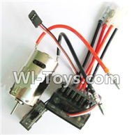 Wltoys K929 Parts-Upgrade 390 Brush motor & Upgrade Brush Motor ESC,Wltoys K929 desert RC Truck Parts,1:18 rc car and rc racing car Parts