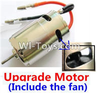 Wltoys K929 Parts-Upgrade Brush motor(Include the Fan,can strengthen the cooling function),Wltoys K929 desert RC Truck Parts,1:18 rc car and rc racing car Parts