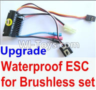 Wltoys K929 Parts-Upgrade waterproof ESC for the Brushless set,Wltoys K929 desert RC Truck Parts,1:18 rc car and rc racing car Parts