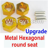Wltoys K929 Parts-Upgrade Metal Hexagonal round seat(4pcs)(4pcs)-Yellow,Wltoys K929 desert RC Truck Parts,1:18 rc car and rc racing car Parts