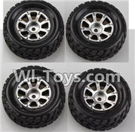 Wltoys K929 Parts-Wheel(2pcs Left and 2pcs Right Wheel),Wltoys K929 desert RC Truck Parts,1:18 rc car and rc racing car Parts
