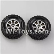 Wltoys K929 Parts-Left Wheel(2pcs),Wltoys K929 desert RC Truck Parts,1:18 rc car and rc racing car Parts