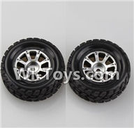 Wltoys K929 Parts-Right Wheel(2pcs),Wltoys K929 desert RC Truck Parts,1:18 rc car and rc racing car Parts