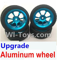 Wltoys K929 Parts-Upgrade Aluminum wheel(4pcs-Include the Tire leather),Wltoys K929 desert RC Truck Parts,1:18 rc car and rc racing car Parts