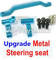 Wltoys K929 Parts-Ugrade Metal Steering seat-Blue,Wltoys K929 desert RC Truck Parts,1:18 rc car and rc racing car Parts