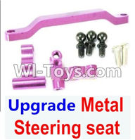 Wltoys K929 Parts-Ugrade Metal Steering seat-Purple,Wltoys K929 desert RC Truck Parts,1:18 rc car and rc racing car Parts