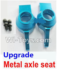 Wltoys K929 Parts-Upgrade Metal axle seat-Blue,Wltoys K929 desert RC Truck Parts,1:18 rc car and rc racing car Parts