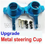 Wltoys K929 Parts-Upgrade Metal steering Cup-Blue,Wltoys K929 desert RC Truck Parts,1:18 rc car and rc racing car Parts