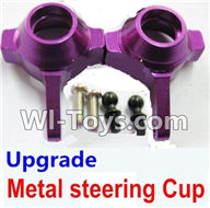 Wltoys K929 Parts-Upgrade Metal steering Cup-Purple,Wltoys K929 desert RC Truck Parts,1:18 rc car and rc racing car Parts