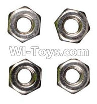 Wltoys K929 Parts-M3 Anti-loose Screw nut(4pcs),Wltoys K929 desert RC Truck Parts,1:18 rc car and rc racing car Parts