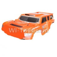 Wltoys K939 Parts-Body Shell cover,Car canopy,Sheel cover-Orange-K939-68,Wltoys K939 RC Car Spare Parts Replacement Accessories,1/10 1:10 Scale 4wd K939 RC Truck parts,RC Racing car Parts