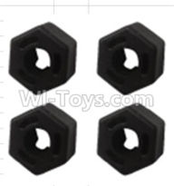 Wltoys K939 Parts-Hexagonal round seat(4pcs)-K939-06,Wltoys K939 RC Car Spare Parts Replacement Accessories,1/10 1:10 Scale 4wd K939 RC Truck parts,RC Racing car Parts