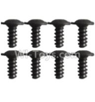 Wltoys K939 Parts-K939-60 Pan head inner hexagon Screws-M2.6X6(8pcs),Wltoys K939 RC Car Spare Parts Replacement Accessories,1/10 1:10 Scale 4wd K939 RC Truck parts,RC Racing car Parts