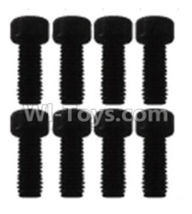 Wltoys K939 Parts-K939-63 Cup head inner hexagon Screws-M3X8(8pcs),Wltoys K939 RC Car Spare Parts Replacement Accessories,1/10 1:10 Scale 4wd K939 RC Truck parts,RC Racing car Parts
