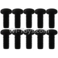 Wltoys K939 Parts-A929-76 Pan head inner hexagon Screws-M4X10(10pcs),Wltoys K939 RC Car Spare Parts Replacement Accessories,1/10 1:10 Scale 4wd K939 RC Truck parts,RC Racing car Parts