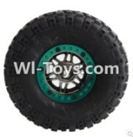 Wltoys K949 Parts-Whole wheel unit(1pcs)-(Inlucde the Wheel Hub,Tire lether,Tire positioning ring)-(Diameter-110mm,Thickness-35mm,12mm hexagonal engagement) For Wltoys K949 Rc Car Parts