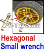 Wltoys K949 Parts-Hexagonal small wrench(Can be used for M2, M2.5, M3, M4 nut specifications) For Wltoys K949 Rc Car Parts,High speed 1:10 Scale 4wd,K949 Drift Racing Truck Car Parts