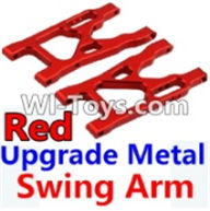 Wltoys K949 Parts-Upgrade Metal Swing Arm-Red-2pcs,Wltoys K949 RC Car Parts,High speed 1:10 Scale 4wd,K949 Electric Power On Road Drift Racing Truck Car Parts