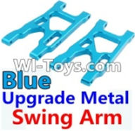 Wltoys K949 Parts-Upgrade Metal Swing Arm-Blue-2pcs,Wltoys K949 RC Car Parts,High speed 1:10 Scale 4wd,K949 Electric Power On Road Drift Racing Truck Car Parts