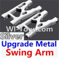 Wltoys K949 Parts-Upgrade Metal Swing Arm-Silver-2pcs,Wltoys K949 RC Car Parts,High speed 1:10 Scale 4wd,K949 Electric Power On Road Drift Racing Truck Car Parts