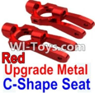 Wltoys K949 Parts-Upgrade Metal C-Shape Seat-Red-2pcs,Wltoys K949 RC Car Parts,High speed 1:10 Scale 4wd,K949 Electric Power On Road Drift Racing Truck Car Parts