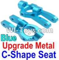 Wltoys K949 Parts-Upgrade Metal C-Shape Seat-Blue-2pcs,Wltoys K949 RC Car Parts,High speed 1:10 Scale 4wd,K949 Electric Power On Road Drift Racing Truck Car Parts