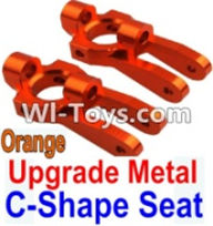 Wltoys K949 Parts-Upgrade Metal C-Shape Seat-Orange-2pcs,Wltoys K949 RC Car Parts,High speed 1:10 Scale 4wd,K949 Electric Power On Road Drift Racing Truck Car Parts
