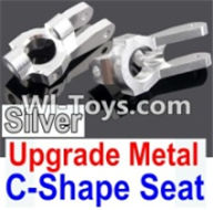 Wltoys K949 Parts-Upgrade Metal C-Shape Seat-Silver-2pcs,Wltoys K949 RC Car Parts,High speed 1:10 Scale 4wd,K949 Electric Power On Road Drift Racing Truck Car Parts