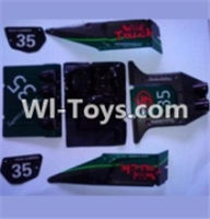 Wltoys 10428 Parts-Body shell cover,10428 Car shell,Wltoys 10428 RC Car Parts,High speed 1:10 Scale 4wd,10428 Electric Power On Road Drift Racing Truck Car Parts