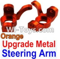 Wltoys K949 Parts-Upgrade Metal Steering arm-Orange-2pcs,Wltoys K949 RC Car Parts,High speed 1:10 Scale 4wd,K949 Electric Power On Road Drift Racing Truck Car Parts