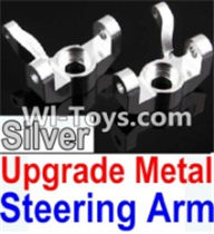 Wltoys K949 Parts-Upgrade Metal Steering arm-Silver-2pcs,Wltoys K949 RC Car Parts,High speed 1:10 Scale 4wd,K949 Electric Power On Road Drift Racing Truck Car Parts