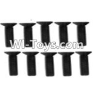 Wltoys K949 Parts-113 A929-61 Countersunk head inner hexagon Screws-M3X12-Black zinc plated(10PCS) For Wltoys K949 Rc Car Parts,High speed 1:10 Scale 4wd Racing Truck Car Parts