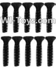 Wltoys K949 Parts-114 A929-63 Countersunk head inner hexagon Screws-M2.6X10-Black zinc plated(10PCS) For Wltoys K949 Rc Car Parts,High speed 1:10 Scale 4wd,Racing Truck Car Parts