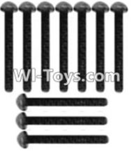 Wltoys K949 Parts-116 A929-73 Pan head inner hexagon Screws-M3X14-Black zinc plated(10PCS),Wltoys K949 RC Car Parts,High speed 1:10 Scale 4wd,K949 Electric Power On Road Drift Racing Truck Car Parts