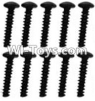 Wltoys K949 Parts-118 A929-79 Pan head inner hexagon Screws-M3X14-Black zinc plated(10PCS),Wltoys K949 RC Car Parts,High speed 1:10 Scale 4wd,K949 Electric Power On Road Drift Racing Truck Car Parts