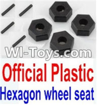 Wltoys K949 Parts-Official Plastic 12MM Hexagon wheel seat,Tire adapter(4pcs),Wltoys K949 RC Car Parts,High speed 1:10 Scale 4wd,K949 Electric Power On Road Drift Racing Truck Car Parts