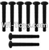 Wltoys K949 Parts-127 K939-62 Pan head inner hexagon Screws-M3X21-Black zinc plated-M3X25(8PCS),Wltoys K949 RC Car Parts,High speed 1:10 Scale 4wd,K949 Electric Power On Road Drift Racing Truck Car Parts